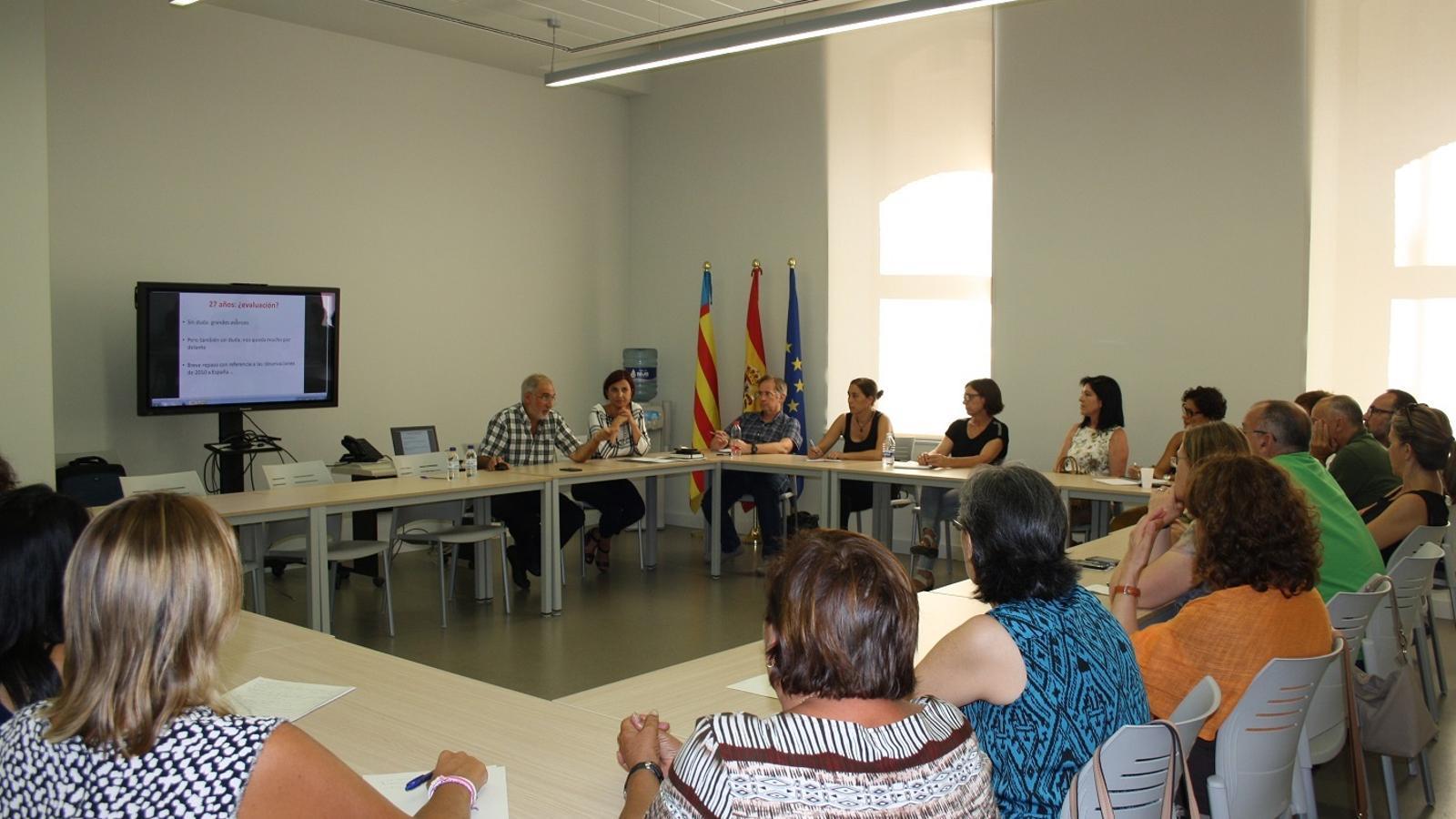 Una sessió de formació dels treballadors públics