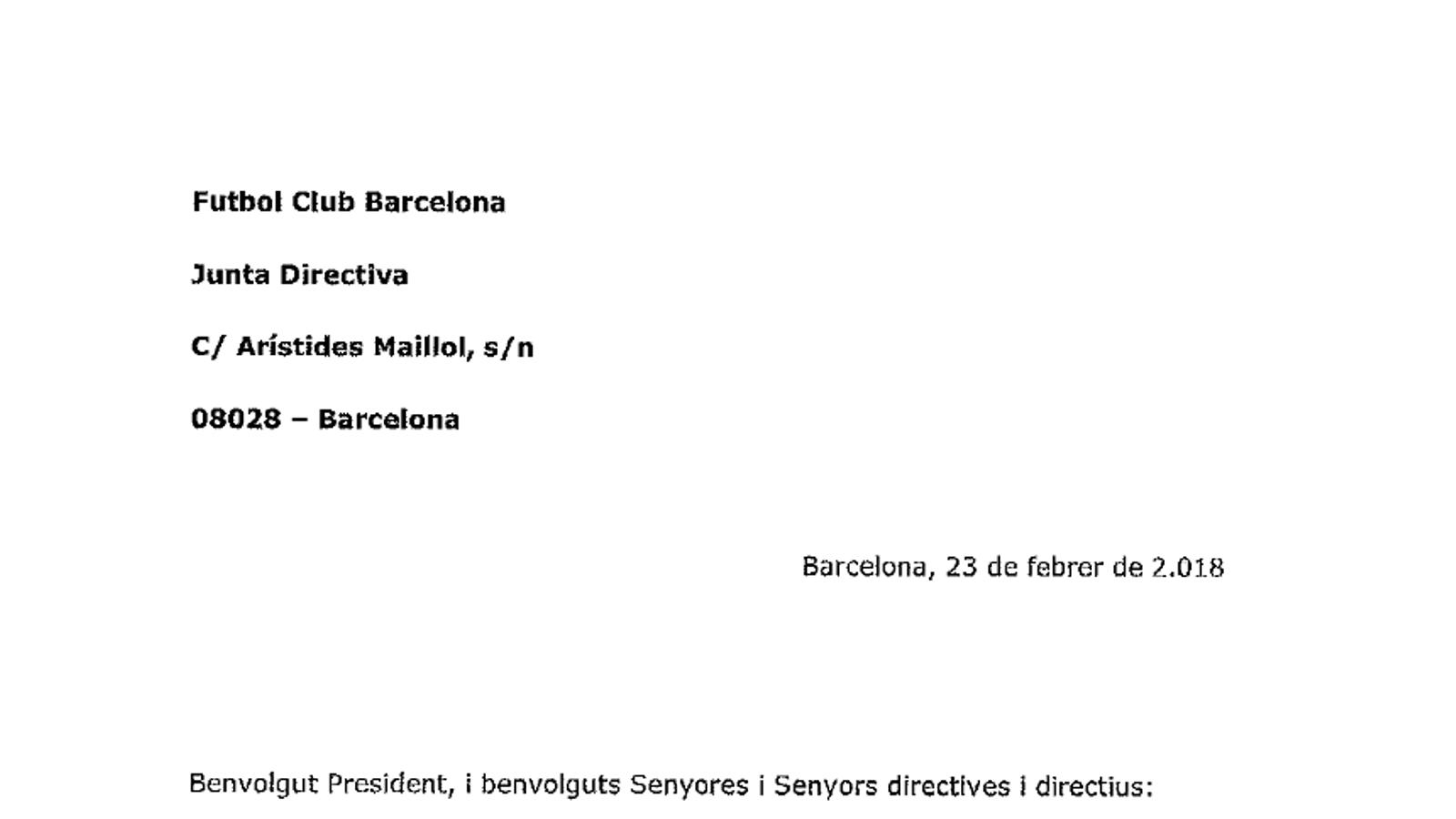 Socis del Barça demanant que la directiva no vagi a la llotja a la final de Copa (1/2)