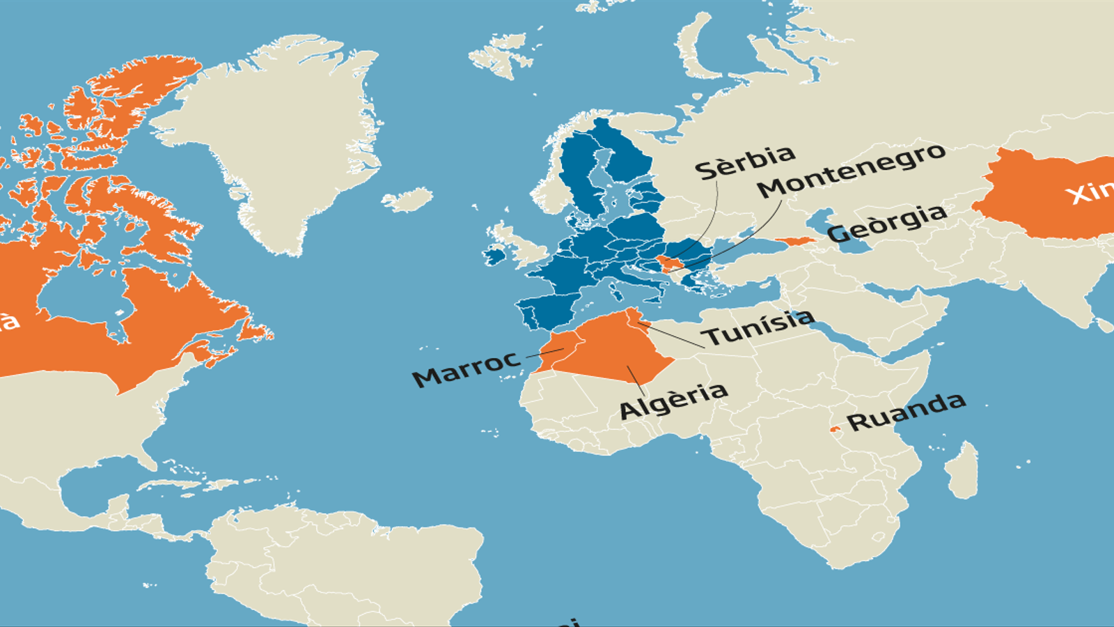 La UE només reobrirà fronteres amb una quinzena de països i manté el veto als EUA
