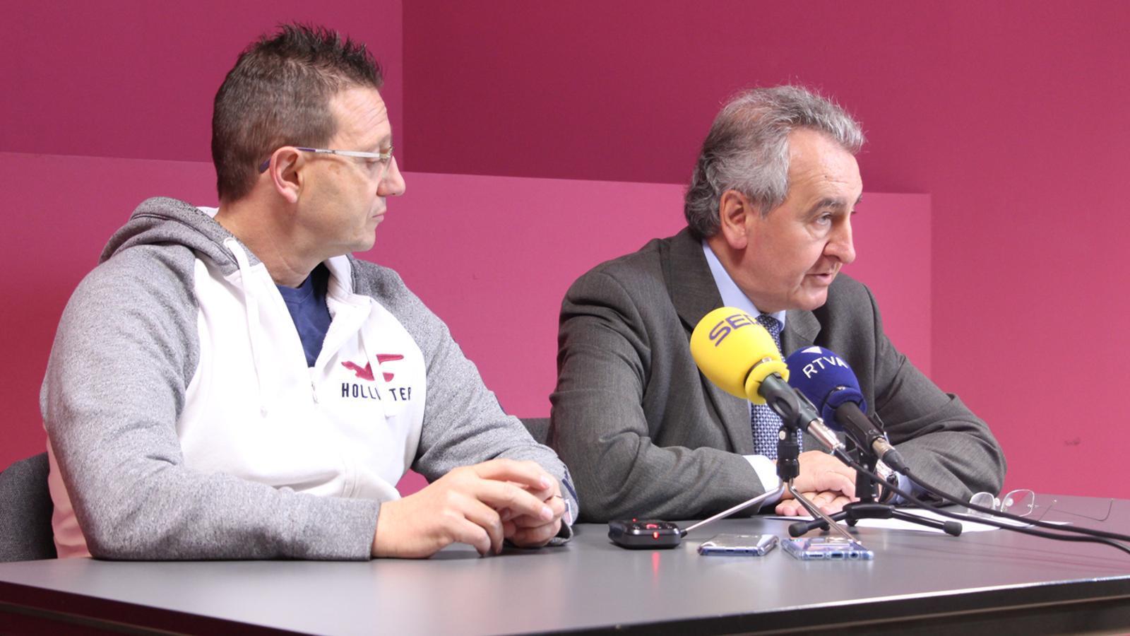 Els representants de Progressistes-SDP, Josep Lluís Donsión i Jaume Bartumeu. / M. P.