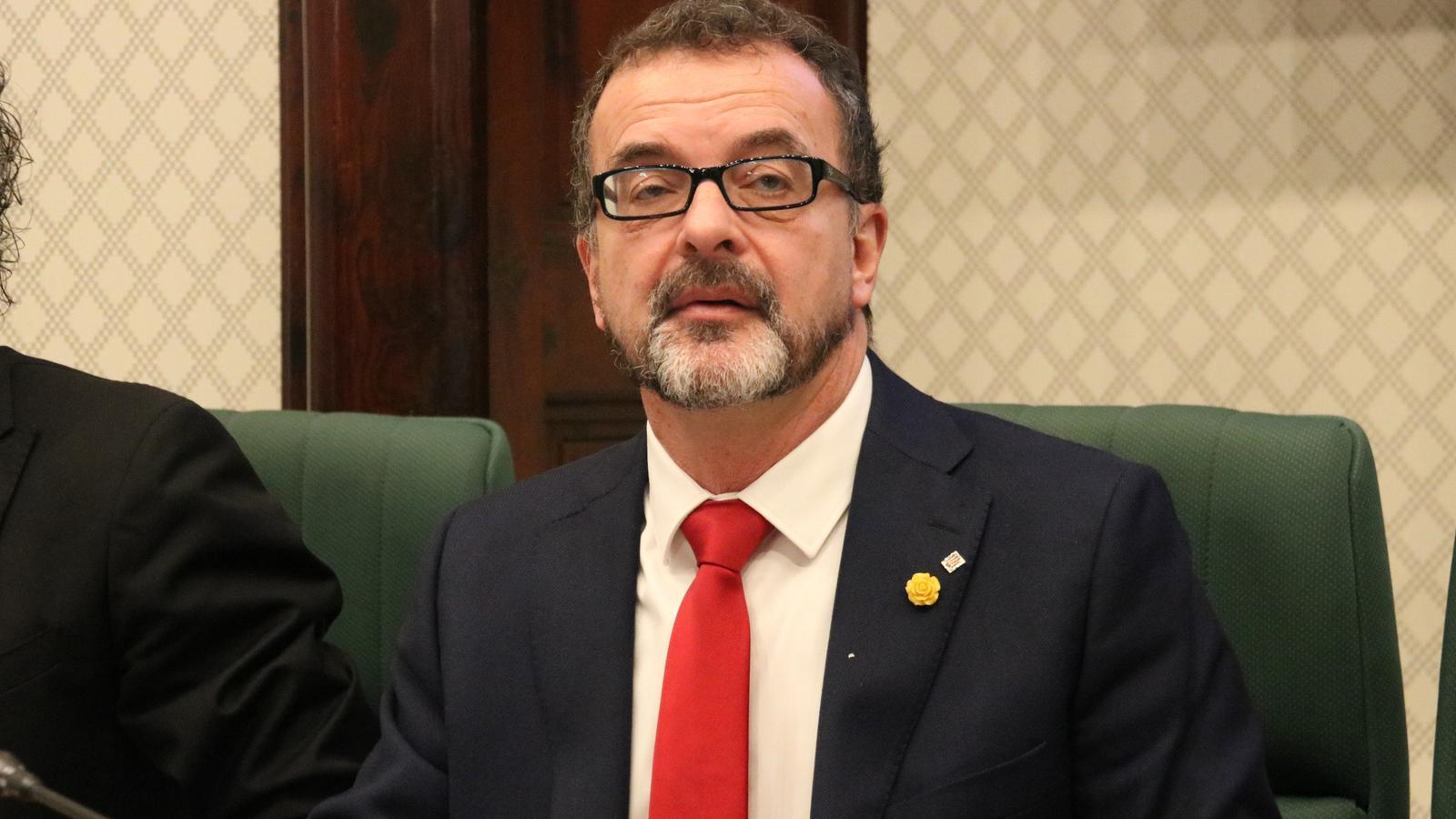 El conseller d'Acció Exterior, Alfred Bosch, en la seva intervenció avui al Parlament.