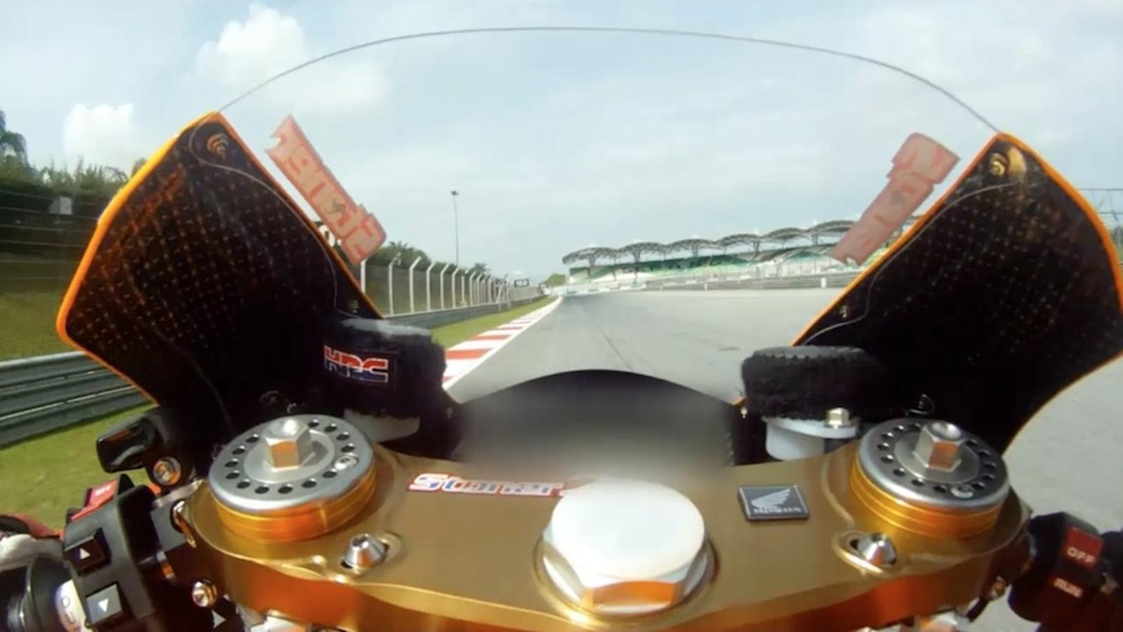 Una volta al circuit de Sepang amb l'actual campió del món, Casey Stoner
