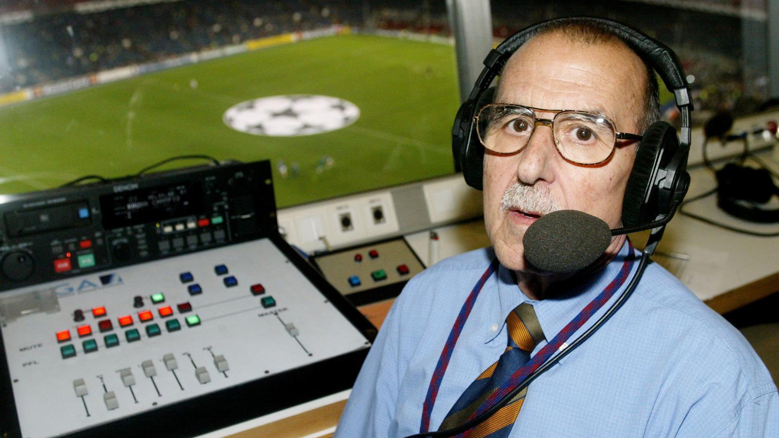 Manel Vich ha posat la veu de la megafonia del Camp Nou durant més de  60 anys