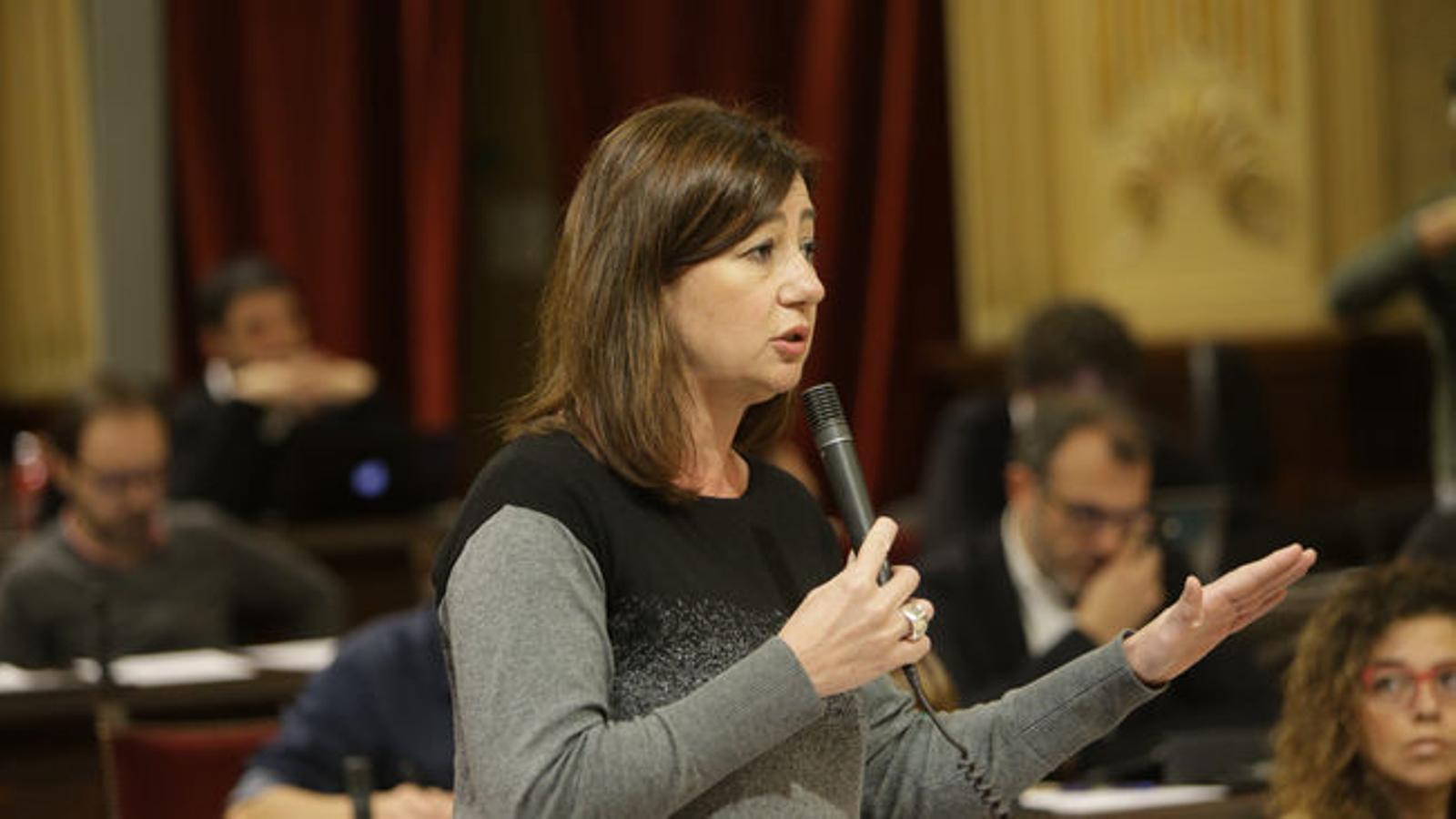 La presidenta, en una imatge d'arxiu, durant una intervenció parlamentària