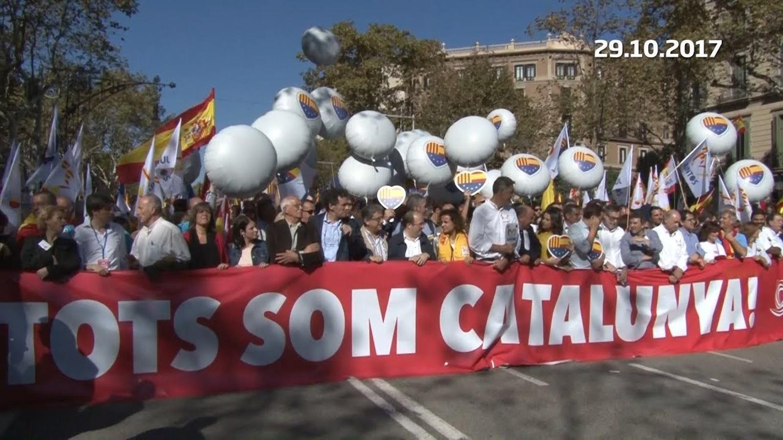 300.000 persones es manifesten per defensar la unitat d'Espanya