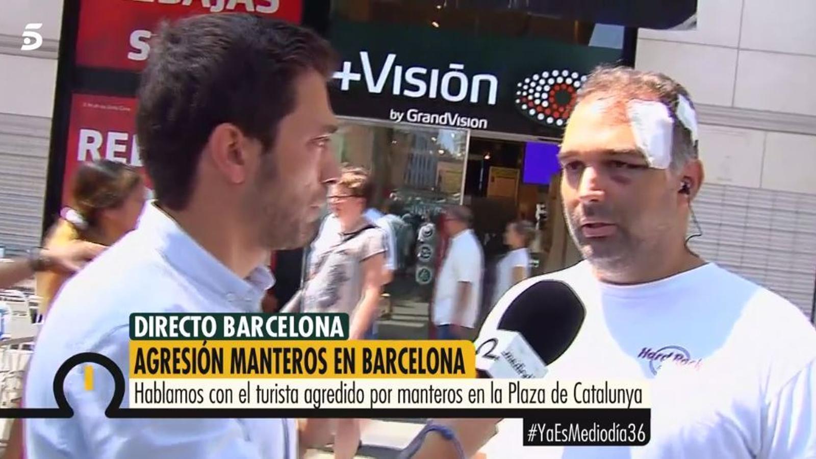 """El turista agredit per manters a Barcelona: """"Volien matar-me"""""""