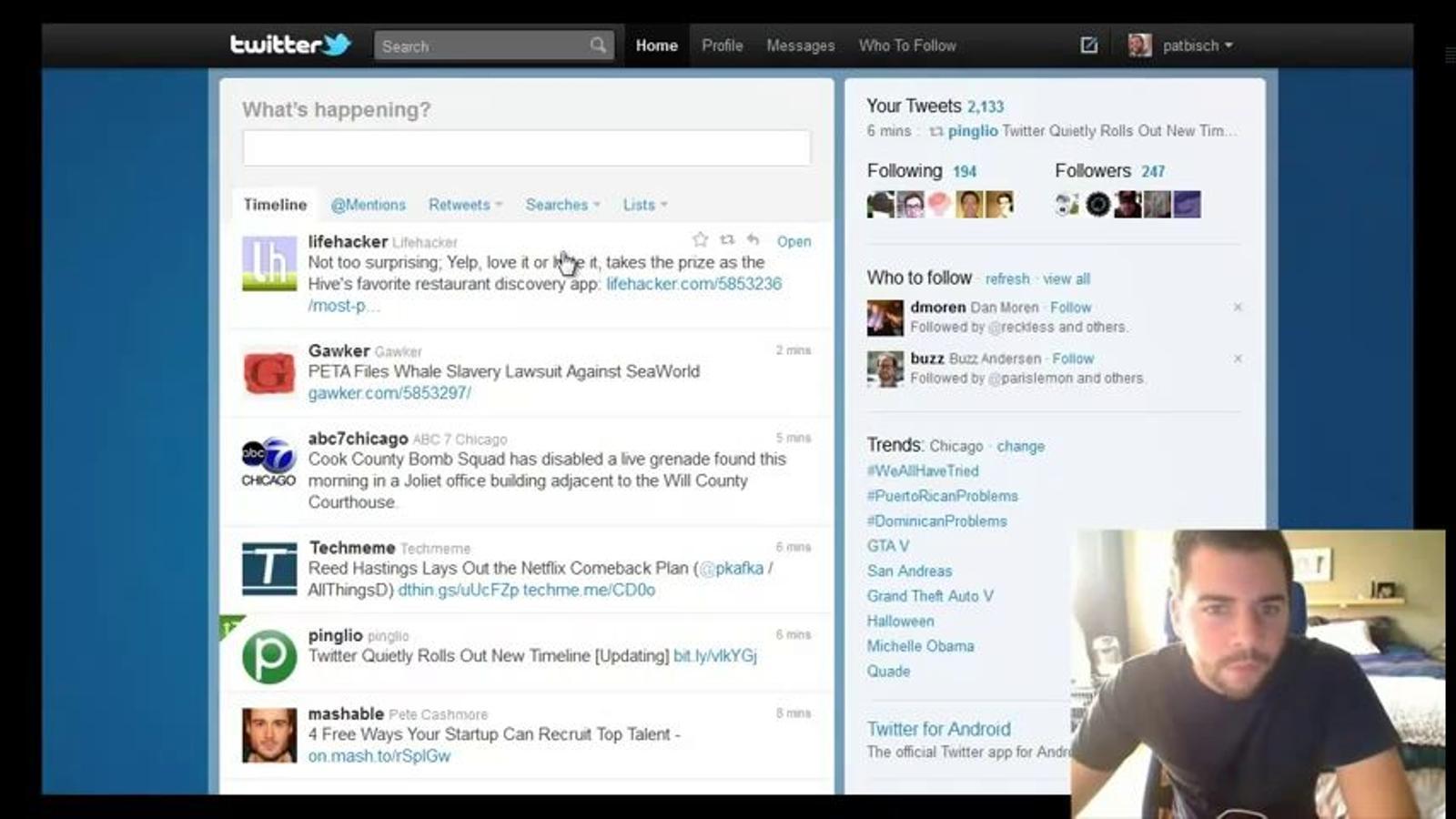 Twitter assaja un nou 'timeline' desplegable