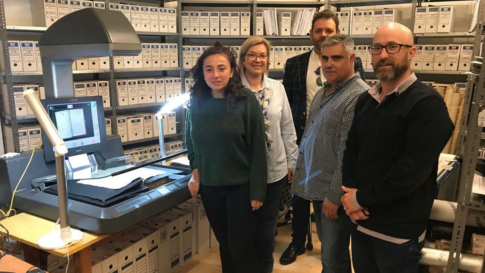 Zona de l'arxiu on es du el procés de digitalització.