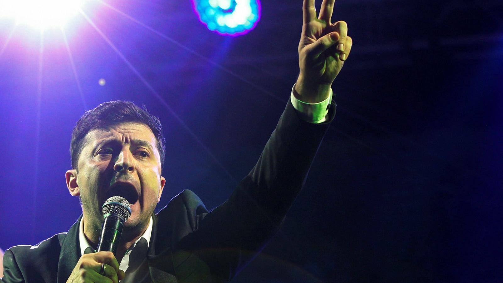 Un actor còmic, favorit per presidir Ucraïna