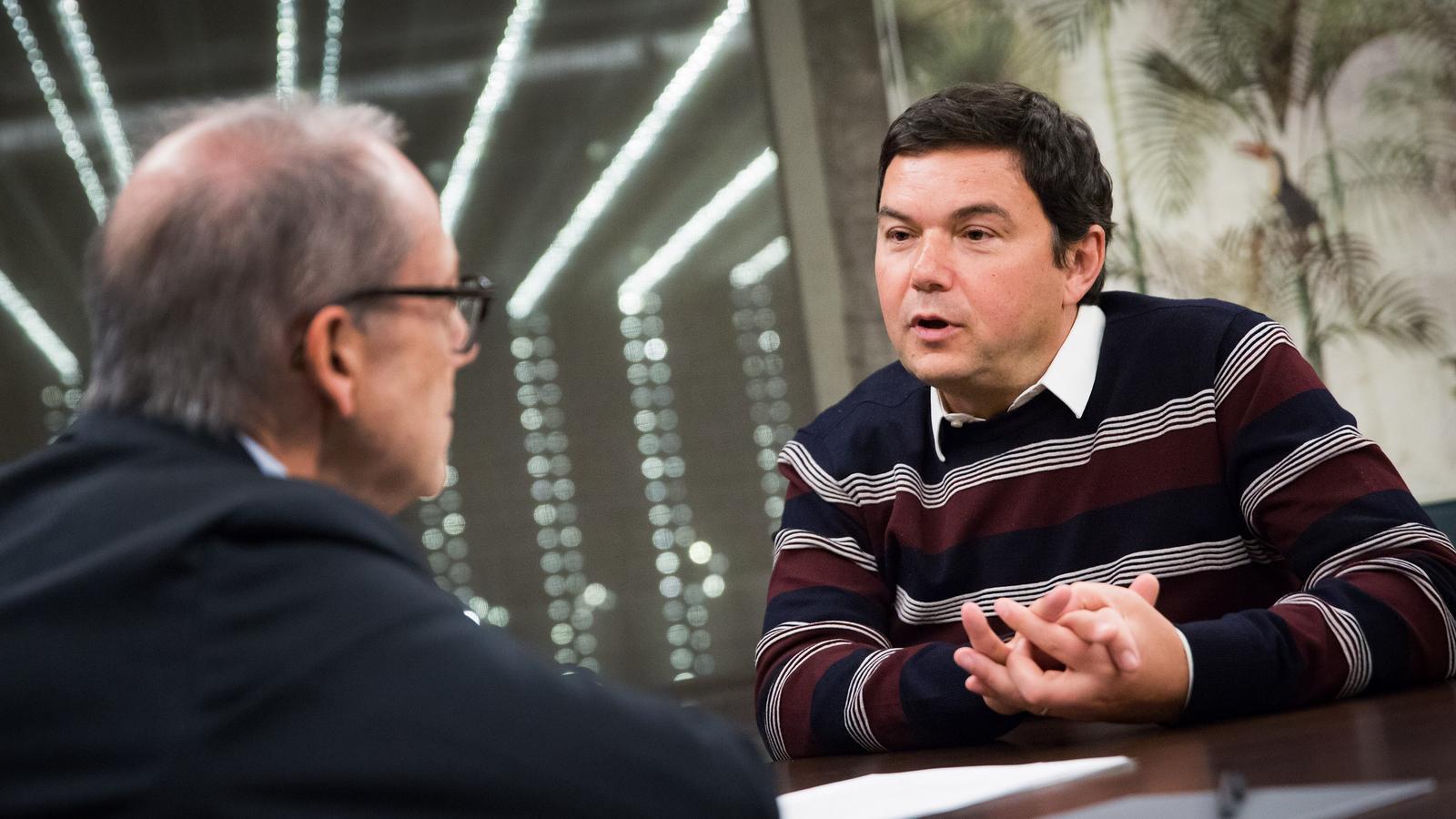 Thomas Piketty en un moment d ela entrevista que li va fer Albert Carreras