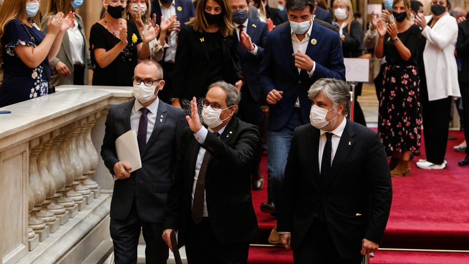"""Torra demana al pròxim Parlament que """"sigui fidel al mandat de les urnes"""" i a la """"ruptura"""""""