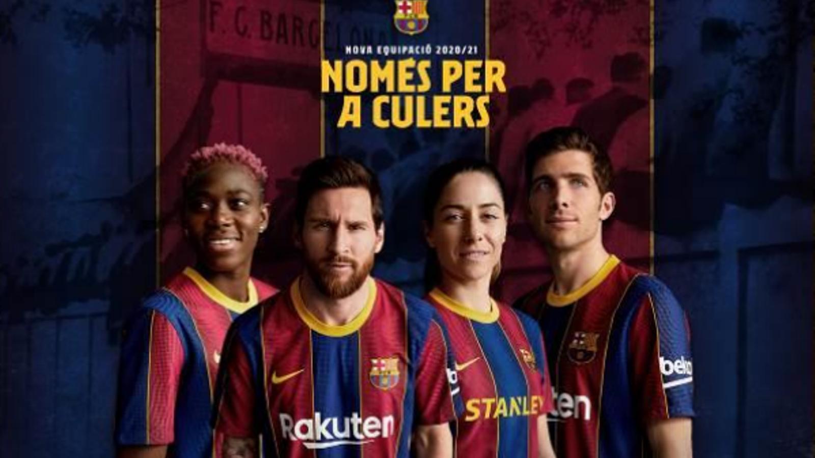 El Barça ha estrenat la samarreta de la temporada 20/21