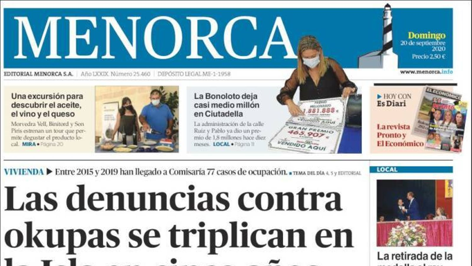 """""""L'UCI de Son Espases no esperava tan prest la segona onada de covid-19"""", portada de 'Diario de Mallorca'"""