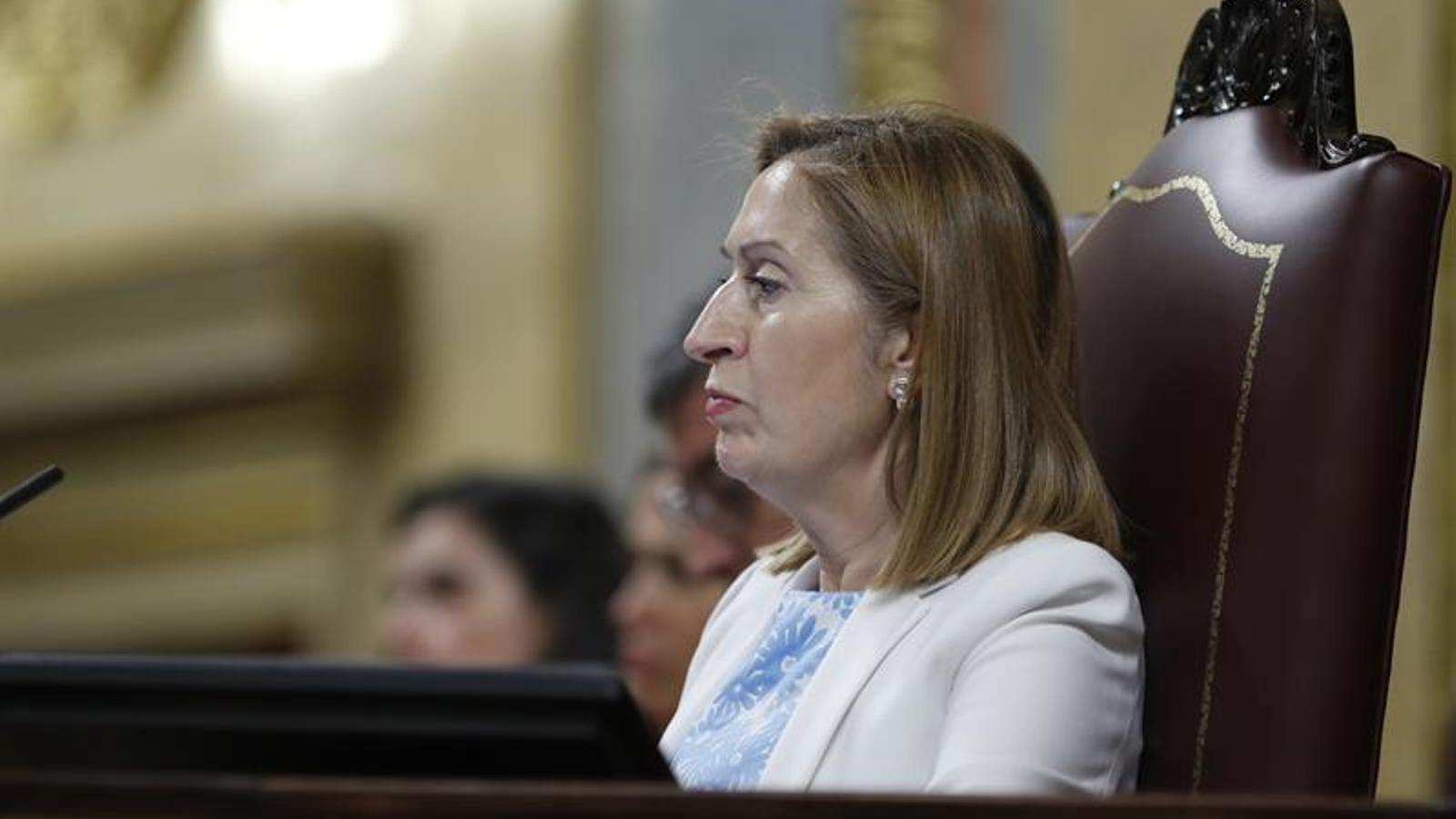 La presidenta del Congrés, l'exministra Ana Pastor
