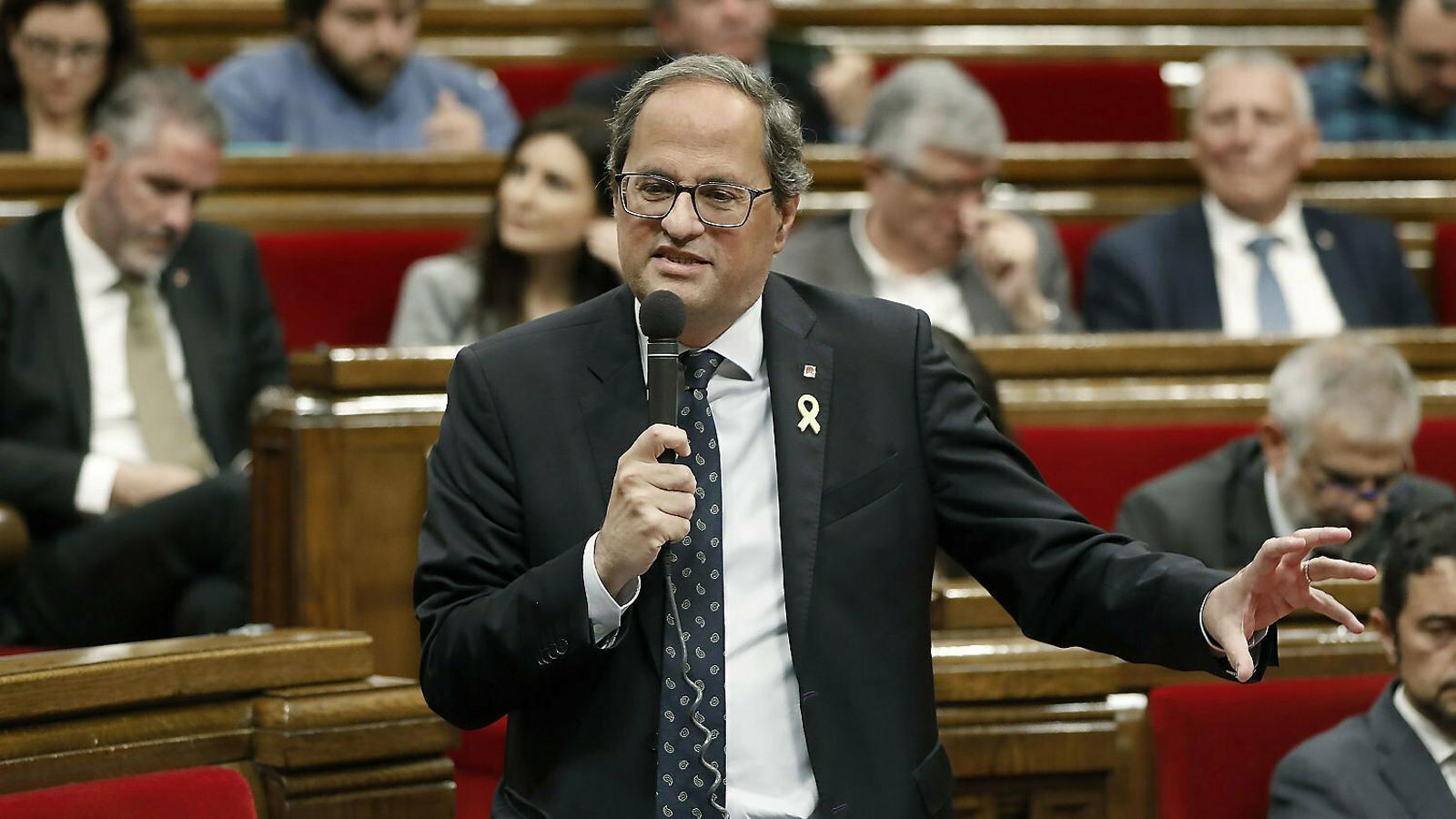 EN DIRECTE: Sessió de control al president de la Generalitat, Quim Torra