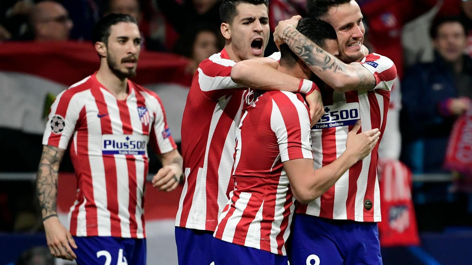 Celebració de l'Atlètic de Madrid