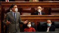 Sánchez fa balanç de l'actual estat d'alarma al Congrés