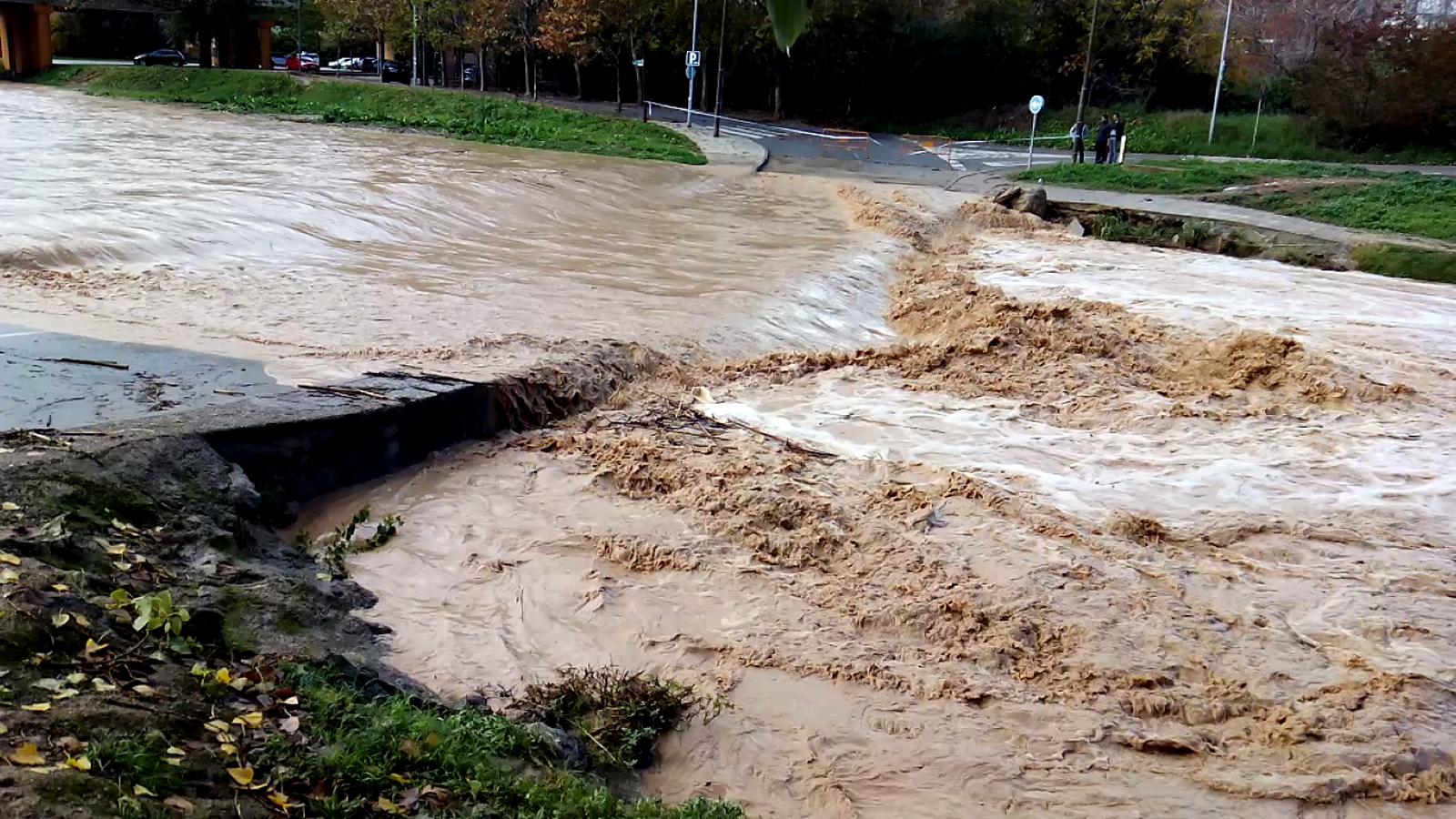 Riuada a Martorell aquest diumenge, després de les pluges del cap de setmana