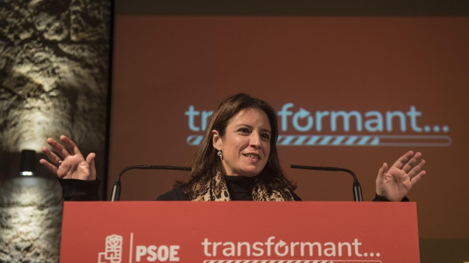 Adriana Lastra i Francina Armengol han compartit actes amb els socialistes menorquins.