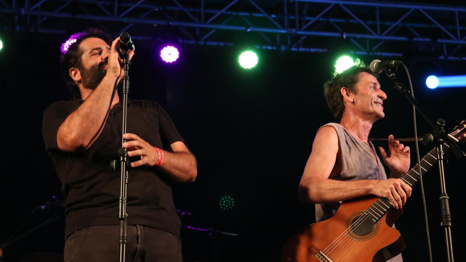 Antònia Font es van tornar a reunir al Concert per la Llibertat d'Expressió i van actuar després del concert d'Albert Pla.