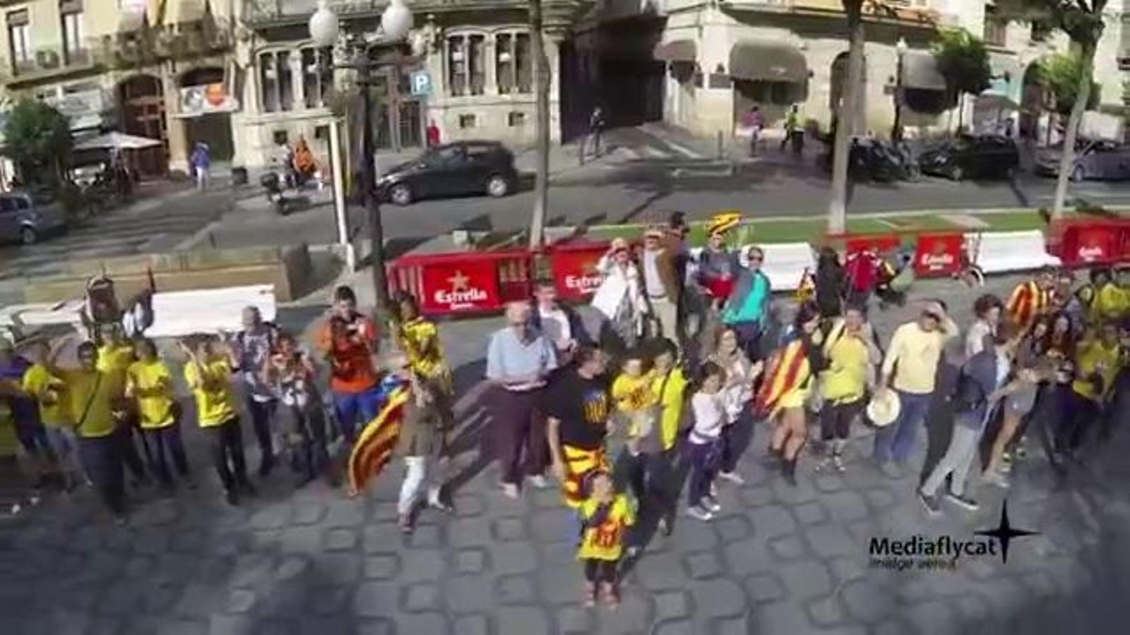 La Via, vista des de l'aire, a la Rambla de Tarragona (Equip Aeri)