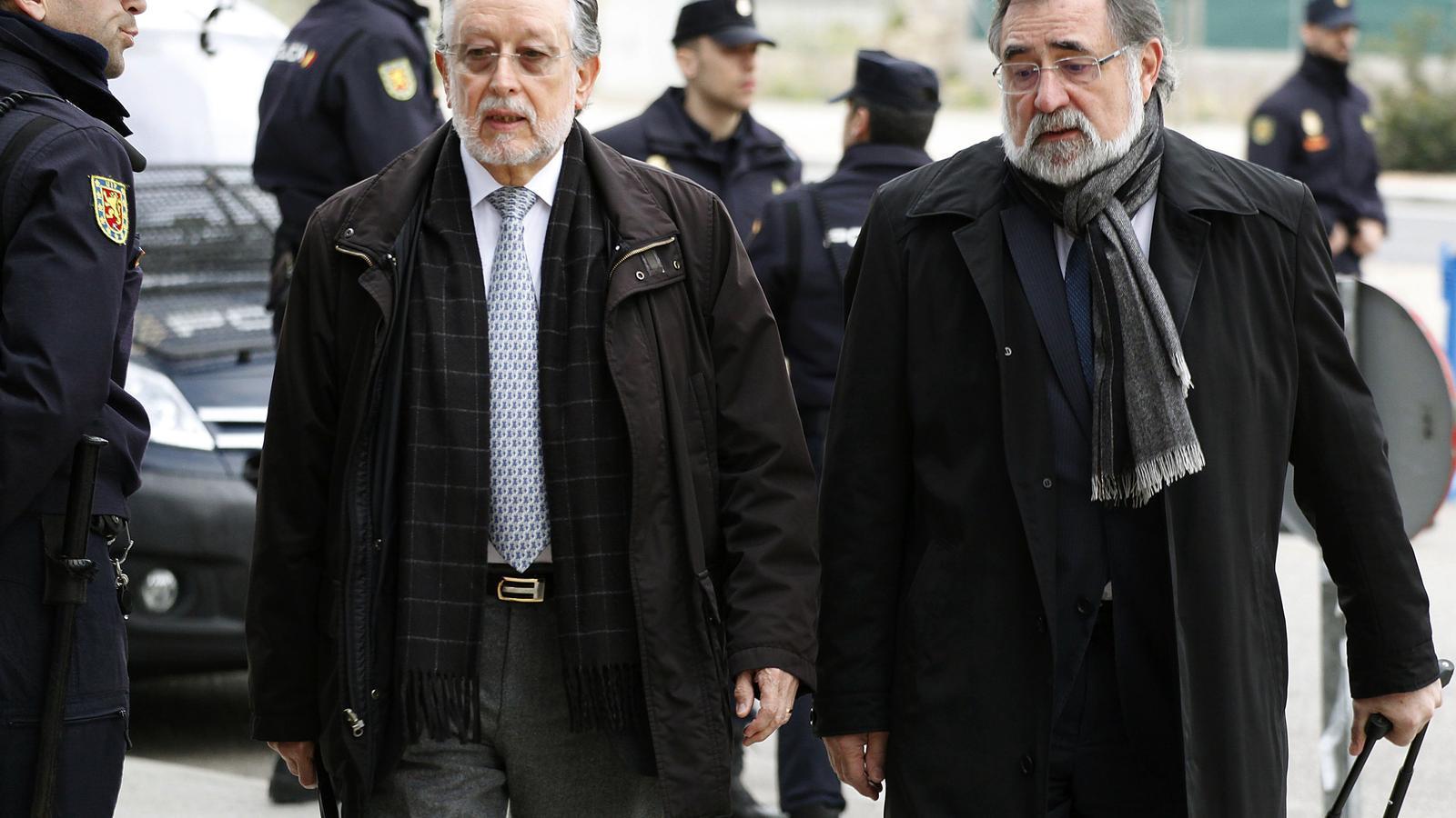 L'exvicealcalde de València,  Alfonso Grau (esquerra, ha declarat aquest dijous com a acusat en el judici del cas Nóos que se celebra a Palma.
