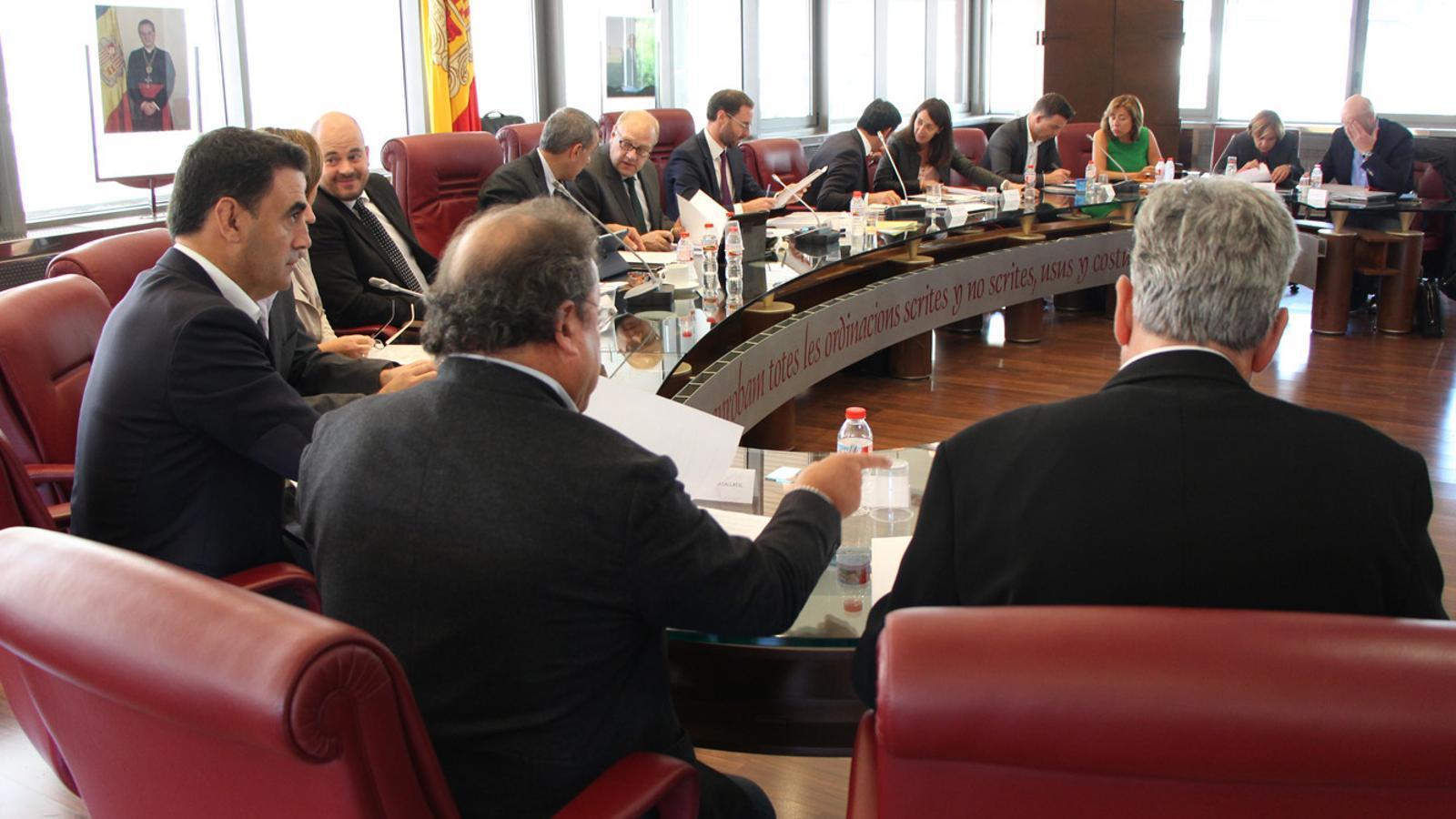 Imatge d'arxiu d'una reunió de cònsols a Canillo. / Arxiu ANA