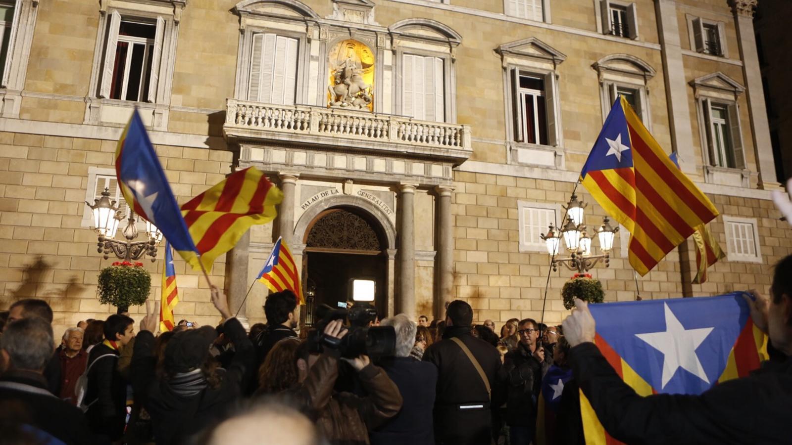 Recorregut des de la Generalitat fins al TSJC