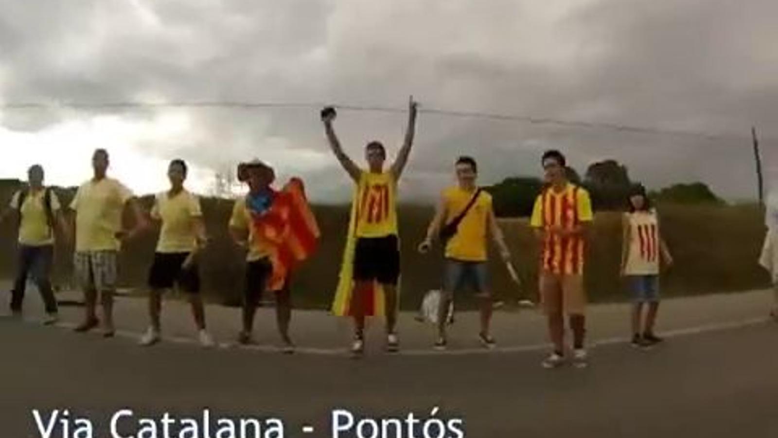 La Via Catalana, a càmera ràpida a Pontós