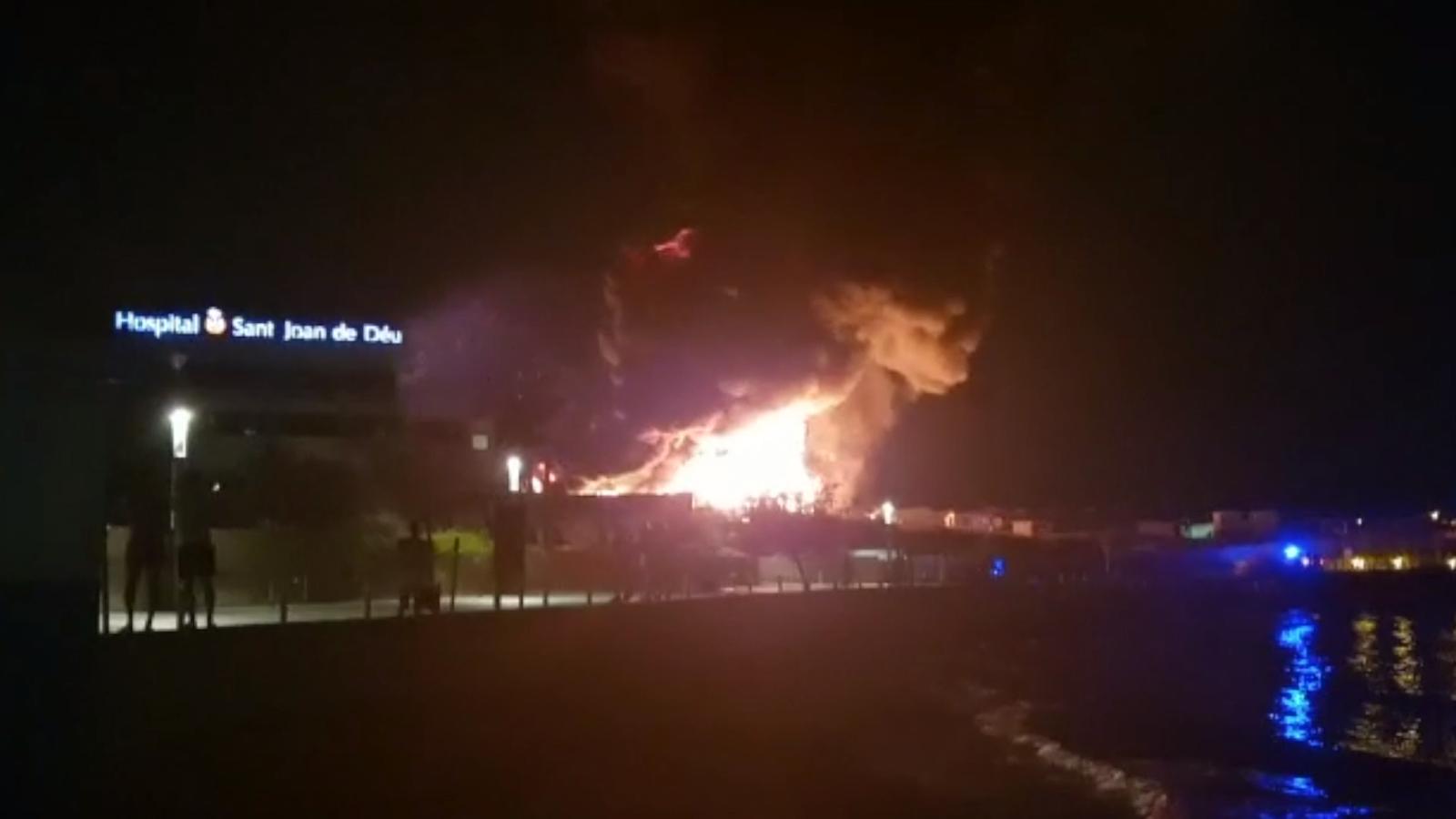 Imatges de l'incendi