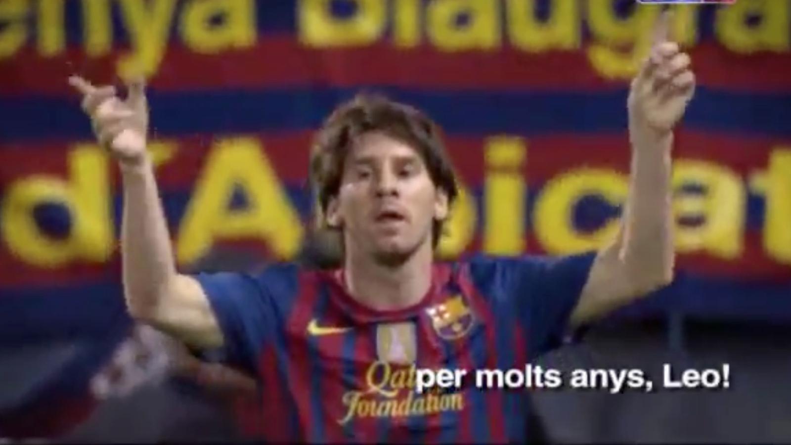 El Barça felicita Messi pel seu 25è aniversari