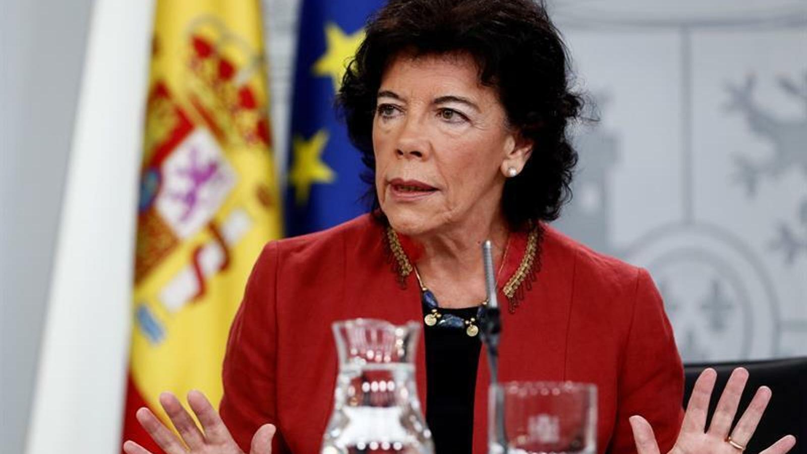 DIRECTE: Isabel Celaá compareix en roda de premsa posterior al consell de ministres