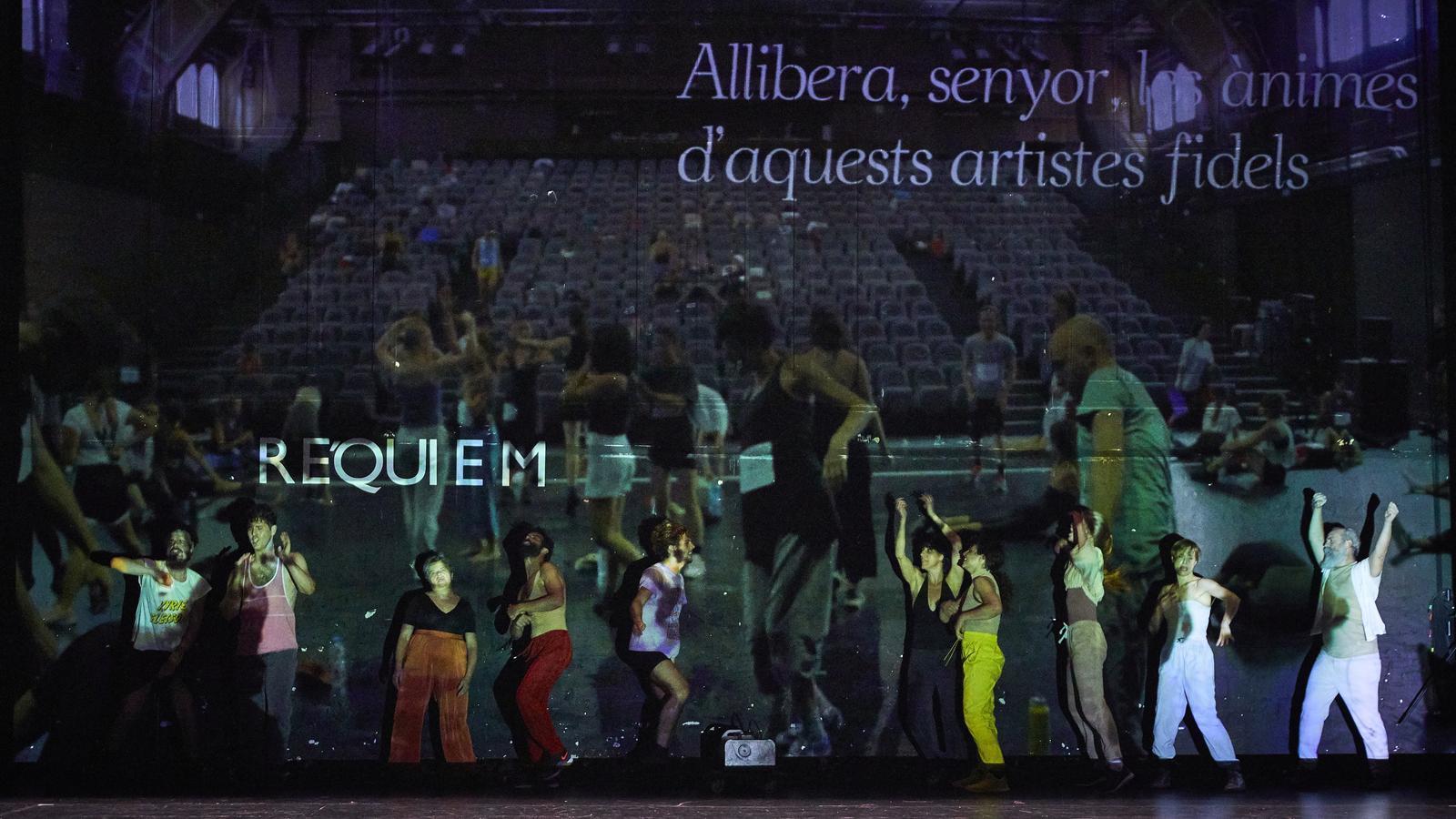 Un moment del 'Rèquiem nocturn' de Pere Faura