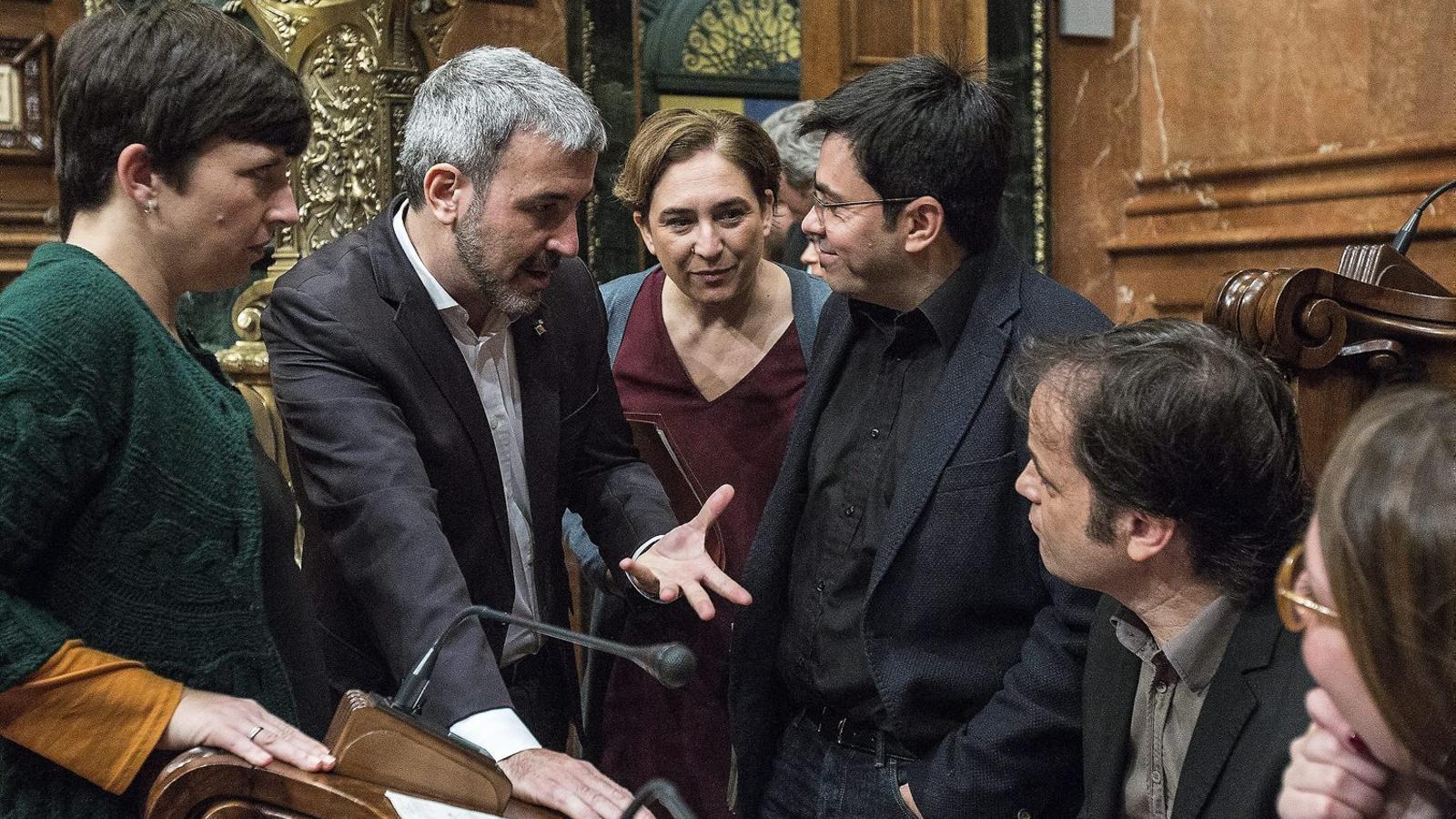 Un cop s'aprovin els pressupostos, Ada Colau i Jaume Collboni tenen previst anunciar el pacte per sumar el PSC al govern de Barcelona.