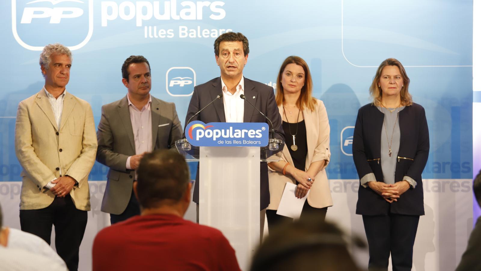 El Partit Popular s'enfonsa a les Balears i cau al quart lloc