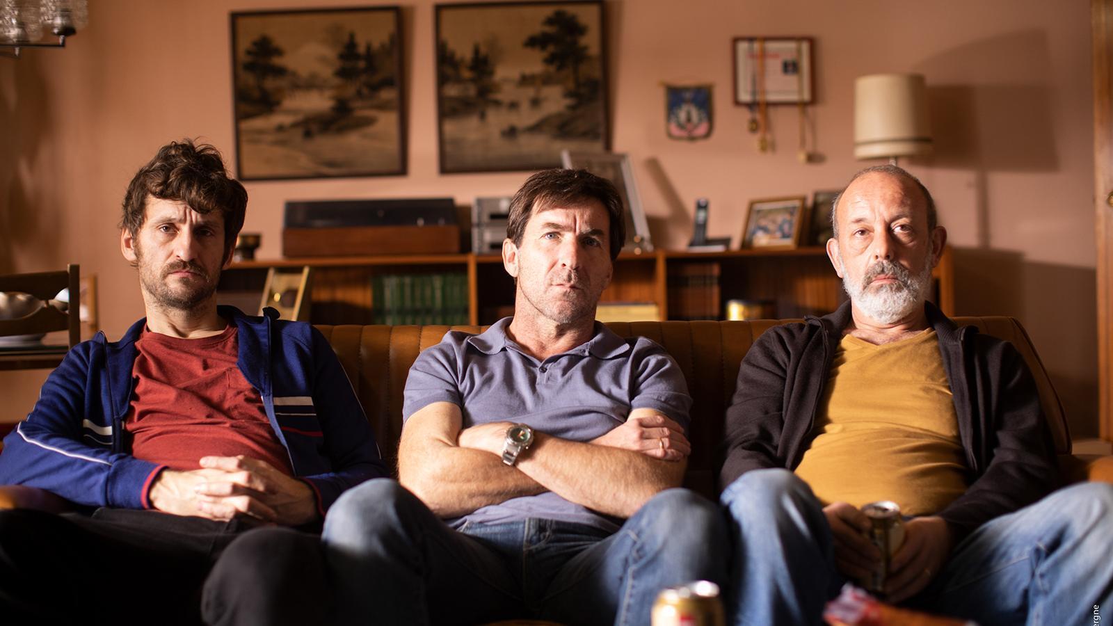 Raúl Arévalo, Antonio de la Torre, i Chema del Barco a la pel·lícula 'El plan'.
