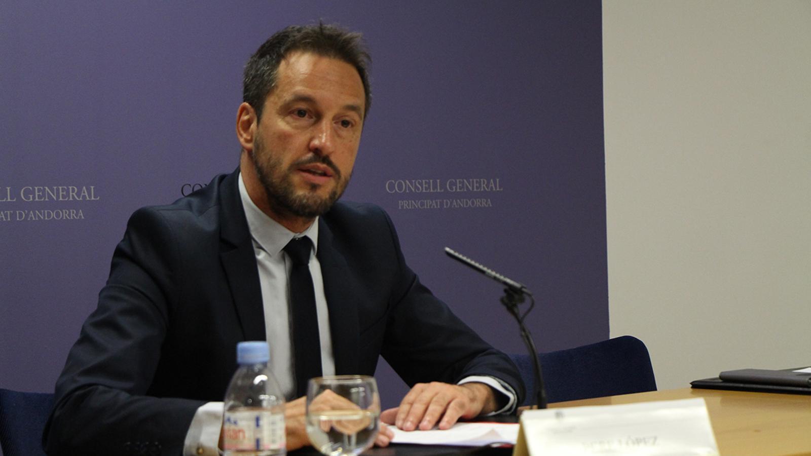 El cap de llista nacional del PS, Pére López. / M. M. (ANA)