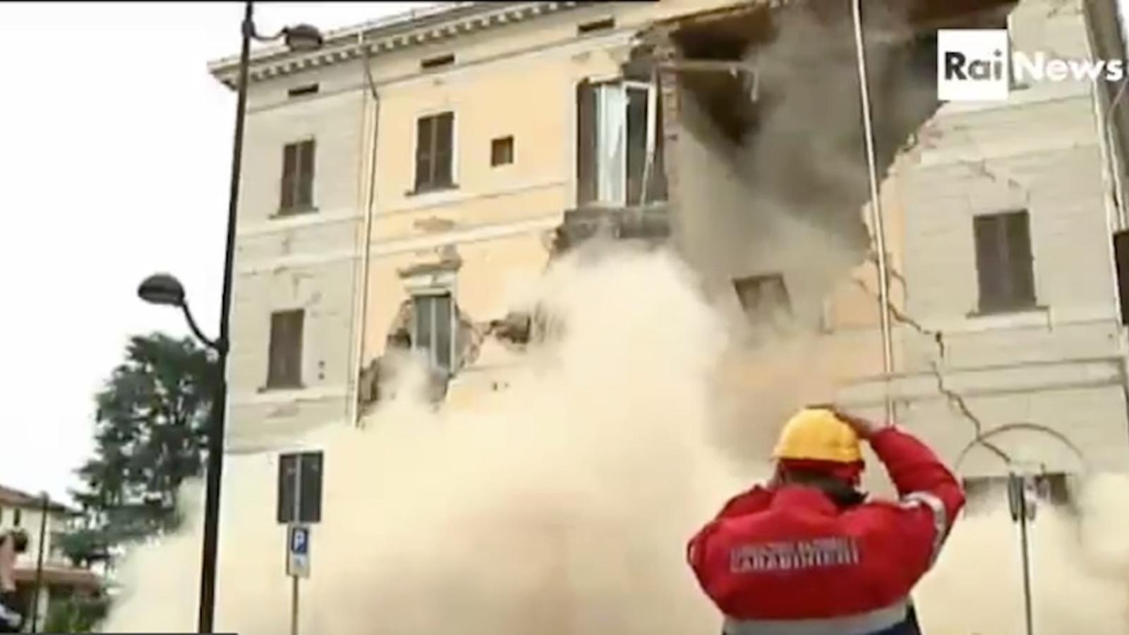 Les destrosses del terratrèmol a Sant'Agostino