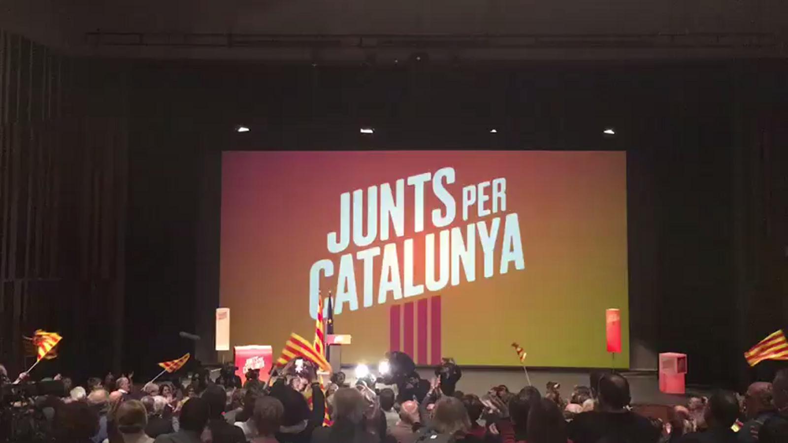 Jordi Turull, ovacionat al míting de Junts per Catalunya a Vic