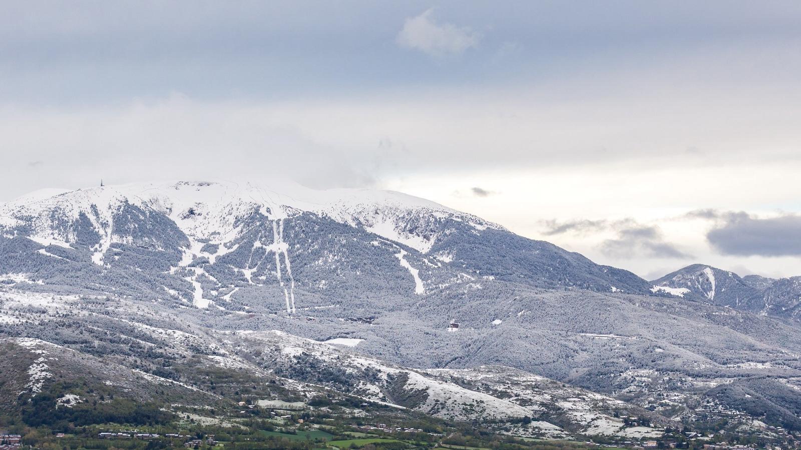 Aspecto de la Cerdanya esta mañana desde Puigcerdà / GAEL Piguillem