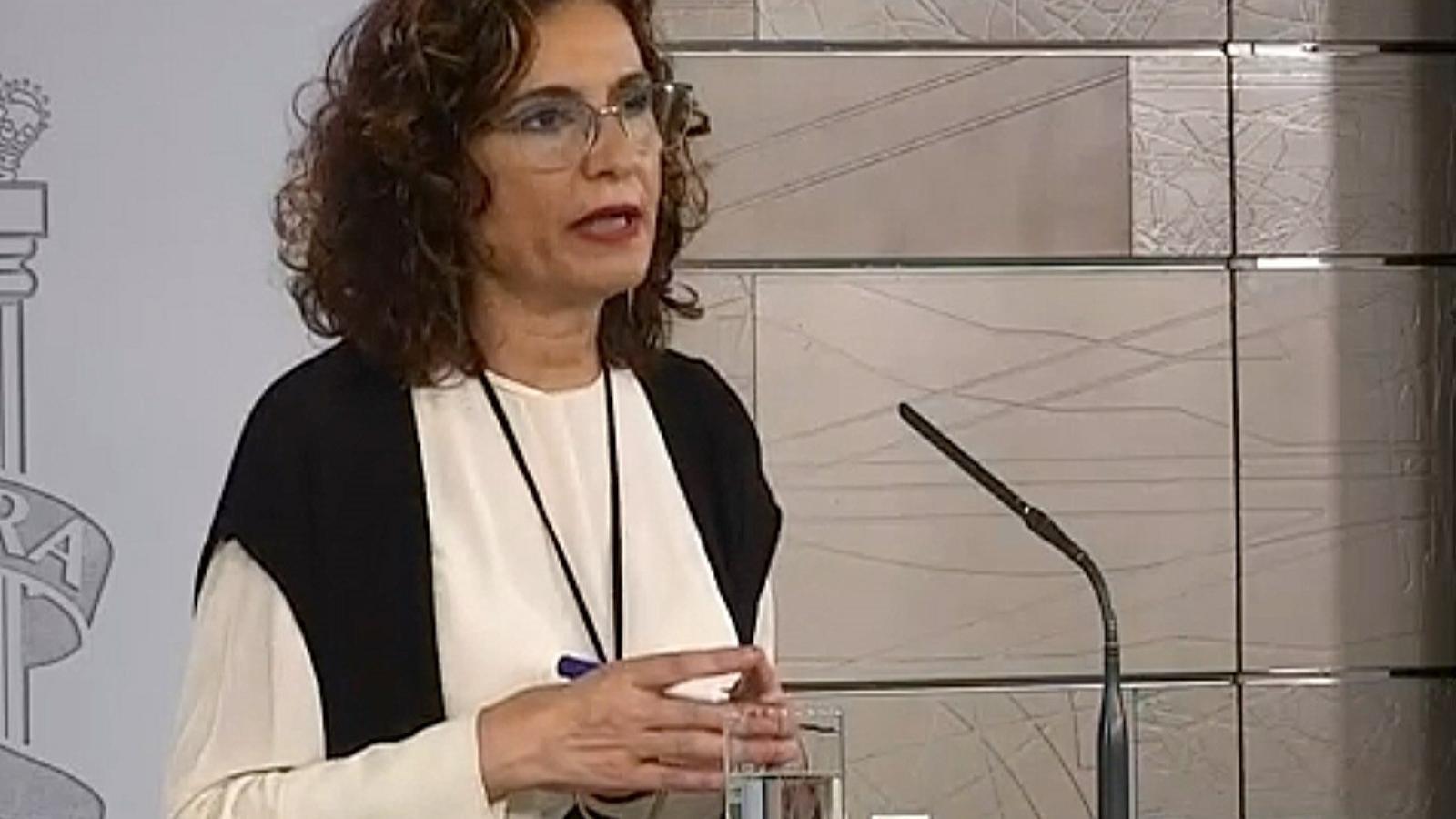 DIRECTE: Roda de premsa de la portaveu del govern espanyol, María Jesús Montero