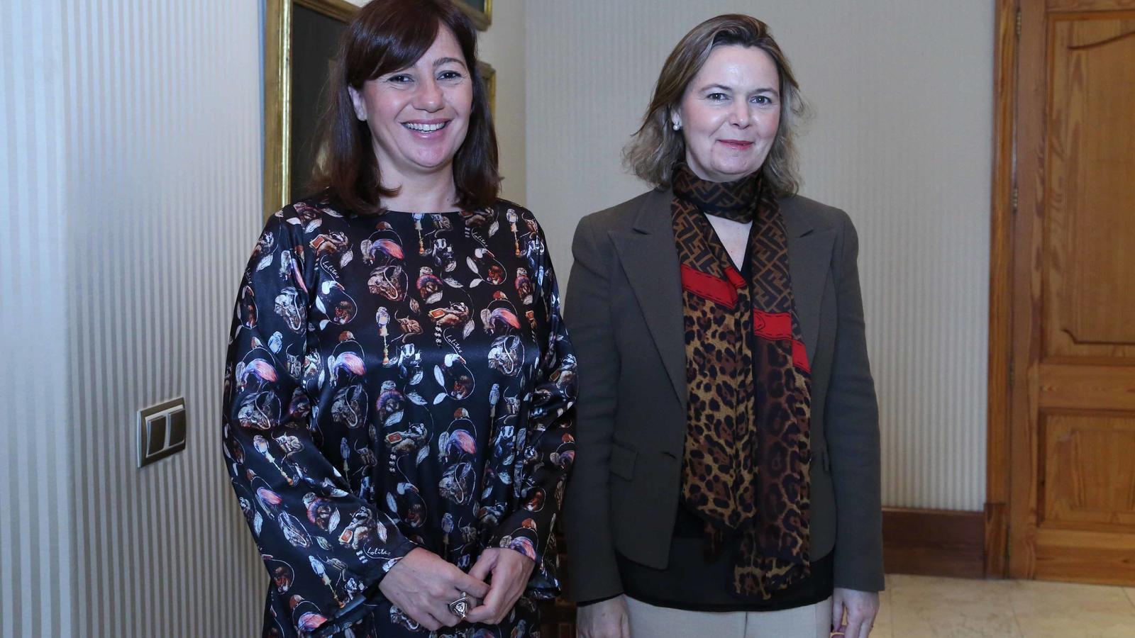 Francina Armengol i Maria Salom s'han reunit aquest dilluns dematí.