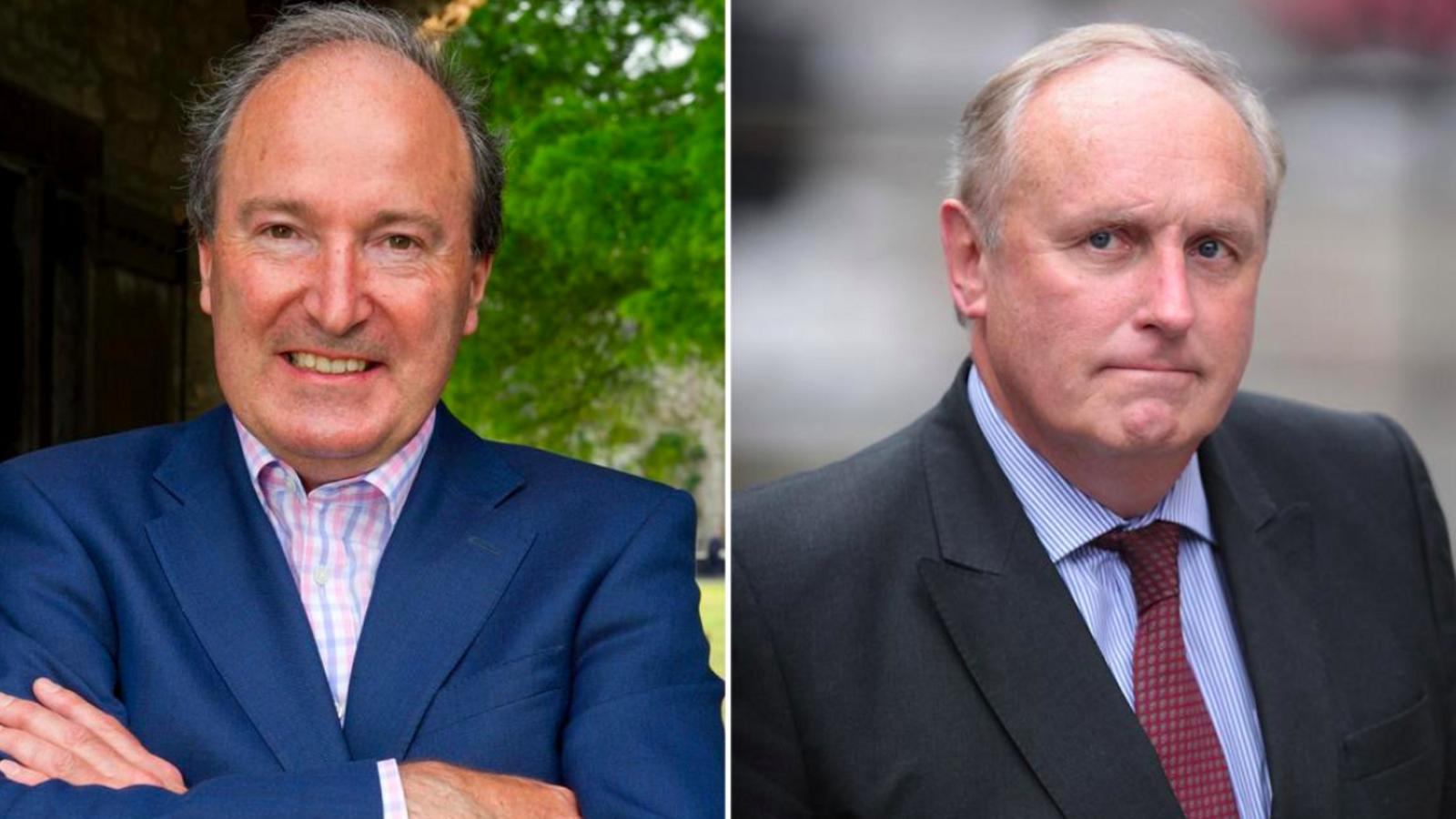 Charles Moore, a l'esquerra, i Paul Dacre, aspirants de Johnson als la BBC i l'OFCOM, respectivament