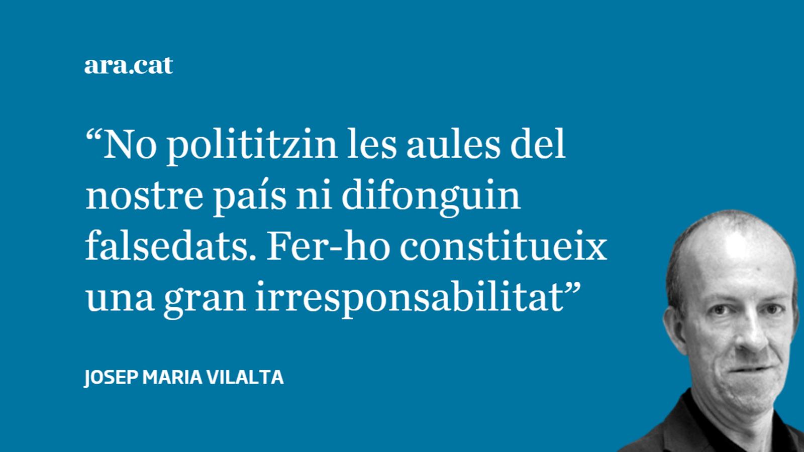 Carta oberta als qui creuen que  les escoles catalanes adoctrinen