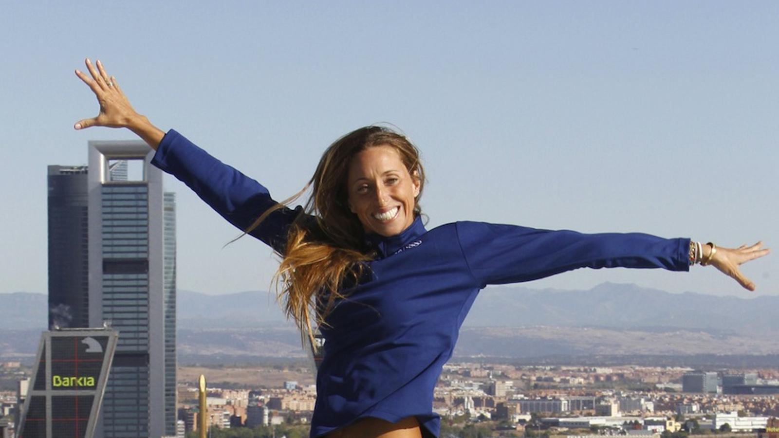 Gemma Mengual, aquest dijous al matí a Madrid. FERNANDO ALVARADO / EFE