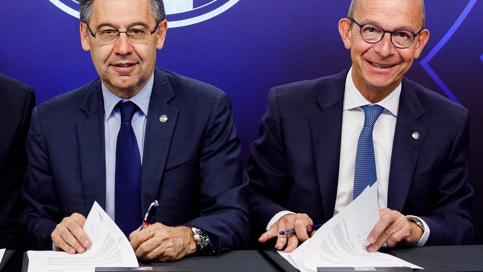Josep Maria Bartomeu i Jordi Cardoner
