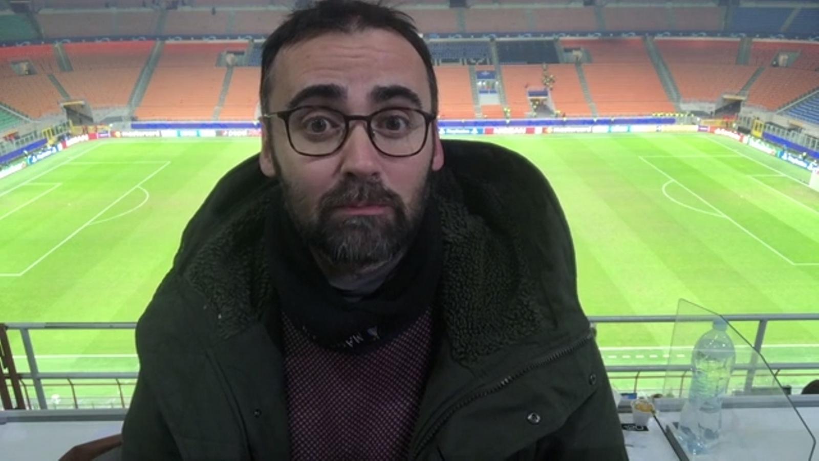L'Inter-Barça, en un minut per Toni Padilla