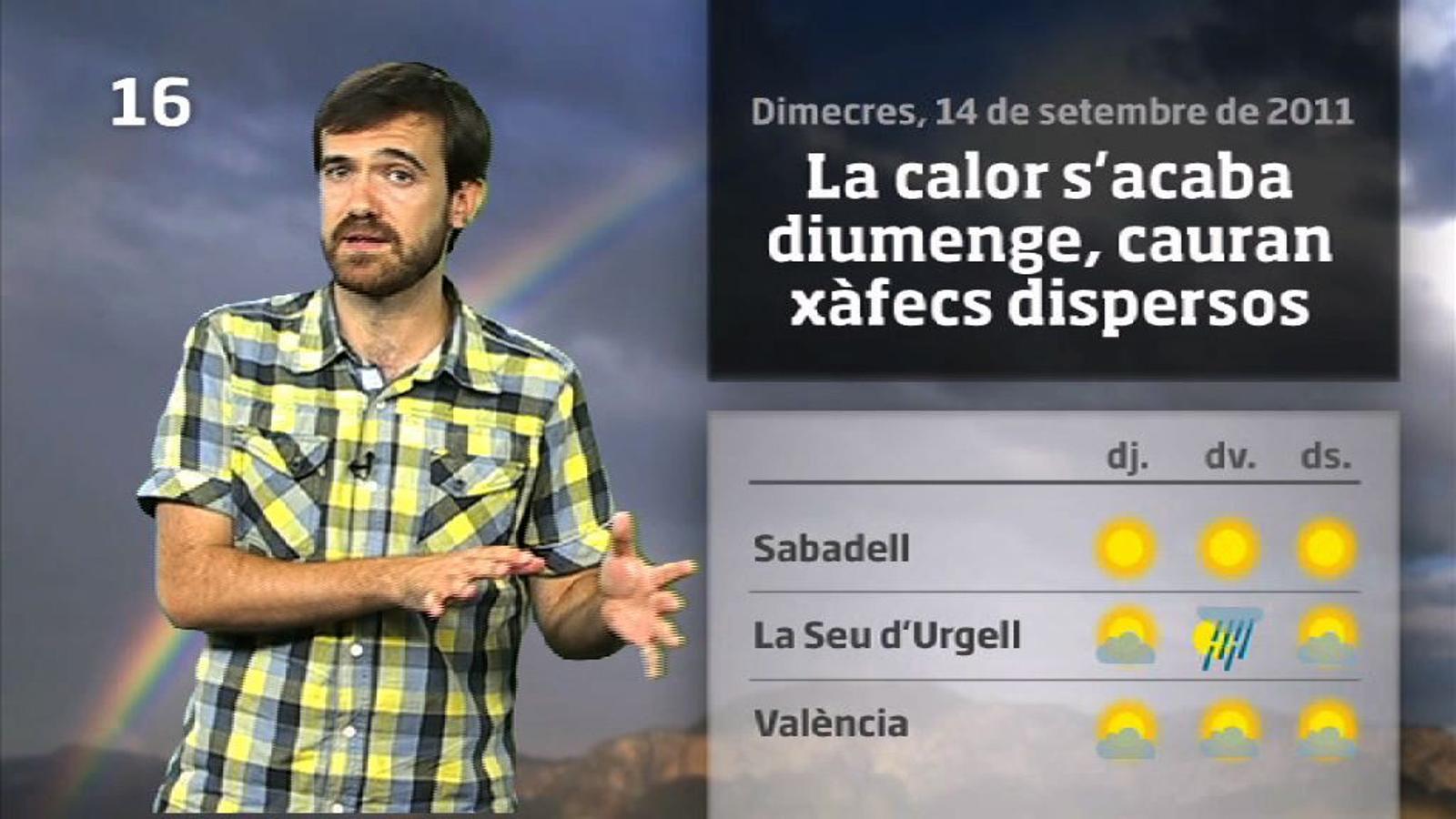 La méteo en 1 minut: encara més calor fins diumenge (15/09/2011)