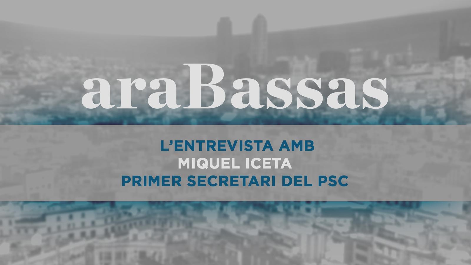 Entrevista d'Antoni Bassas a Miquel Iceta