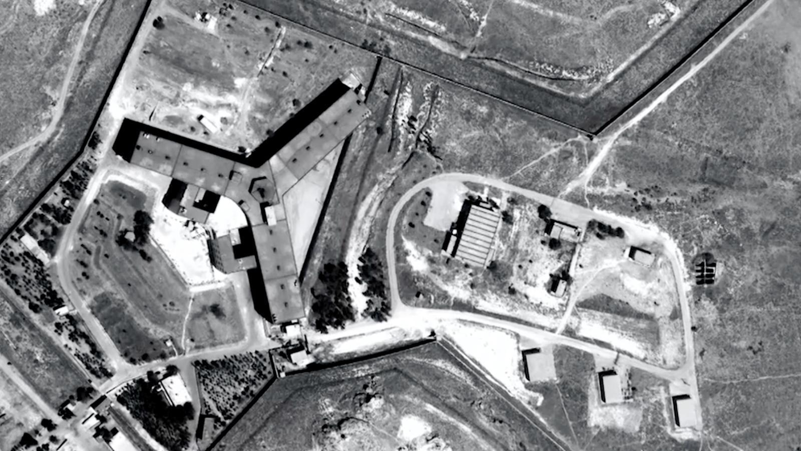 Imatge satèl·lit de la presó de Saydnaya a Damasc.